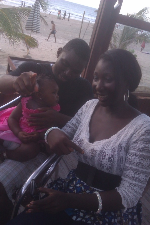 Playing with Fatou's baby. . .she so cute :)
